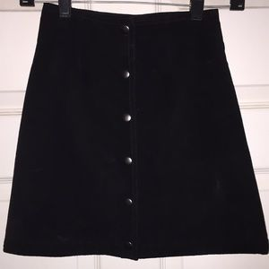 CopperKey Genuine Leather Button-Up Skirt